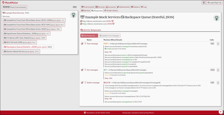 MockMotor service screenshot